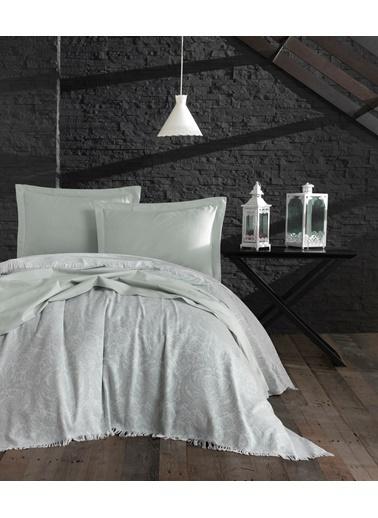 Eponj Home 4Parçalı Yatak Örtüsü Takımı Çift Kişilik Nish  Yeşil